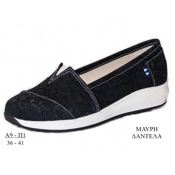 "ANATOMIC ESPADRILLES ""BLACK LACE"""