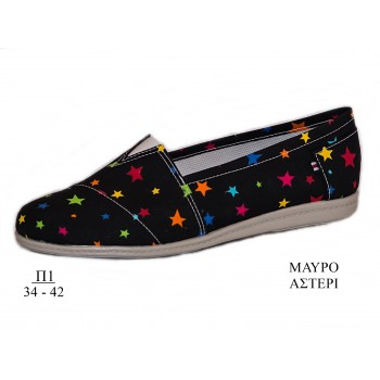 "ANATOMIC ESPADRILLES ""BLACK STAR"""